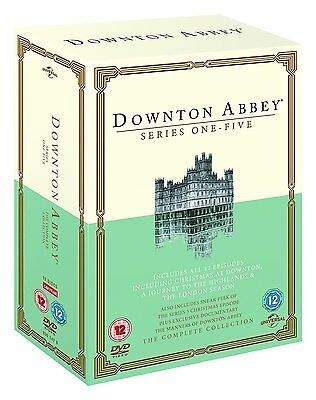 DOWNTON ABBEY COMPLETE SERIES 1-5 DVD Seasons 1 2 3 4 5 UK Release  Brand New R2