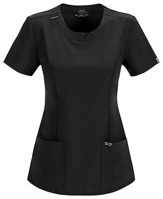 Scrubs Cherokee Infinity Round Neck Top 2624A BAPS Black FREE SHIPPING!