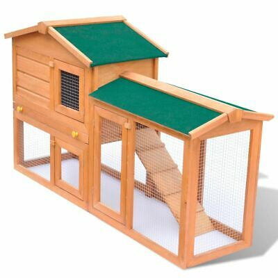 New Outdoor Large Rabbit Hutch Small Animal House Pet Cage Carrier Coop Wood