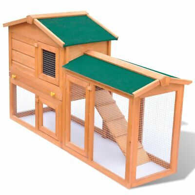 Outdoor Large Rabbit Hutch Small Animal House Pet Cage Carrier Coop Wood