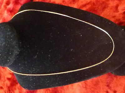 18ct solid gold retro neck chain snake