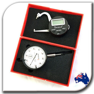 0-10mm Dial Indicator Gauge + Digtal Thickness Caliper Measuring + Lifetime