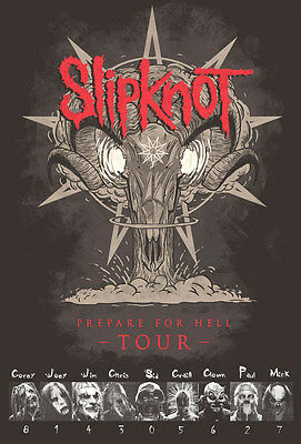 "Slipknot Prepare for Hell TOUR 2014 POSTER 23""x34"" Rock Punk Alter Heavy Metal"