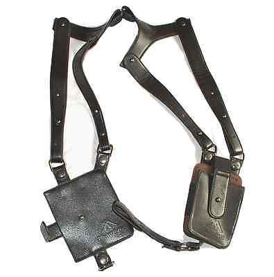 LEATHER ANTI-THEFT HIDDEN UNDERARM HOLSTER STYLE SHOULDER WALLET PHONE BAG Pures