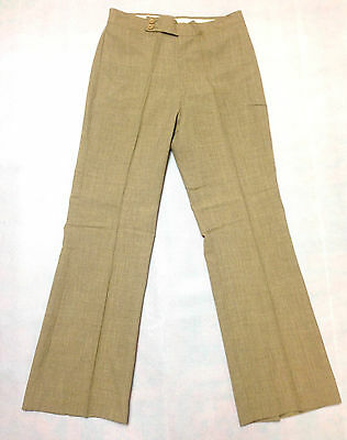 Tweed Trouser Brown Vintage Boys / Mens 1970s Leisure Pants Clothing Disco Golf