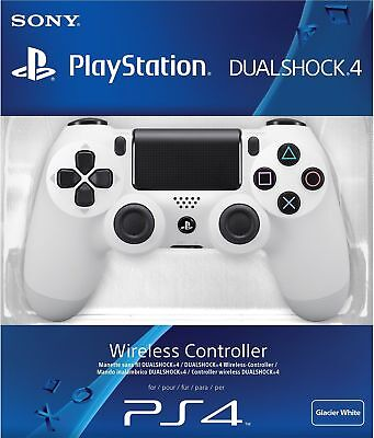 Sony Official Dualshock 4 Controller (White) (PS4) Brand New & Sealed - UK PAL