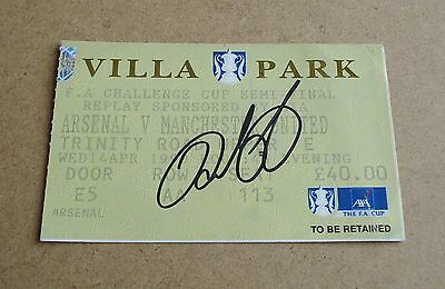 Ryan Giggs Signed 1999 FA Cup Semi Final Ticket Autograph Man Utd Memorabila COA