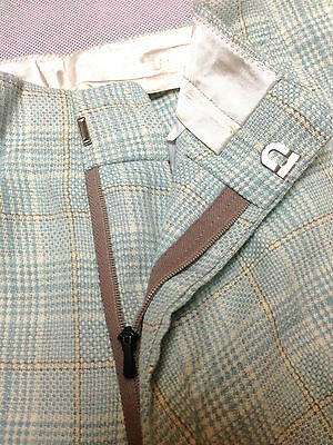Trouser Blue Check Vintage Boys / Mens 1970's Leisure Pant Clothing Golf Tweed
