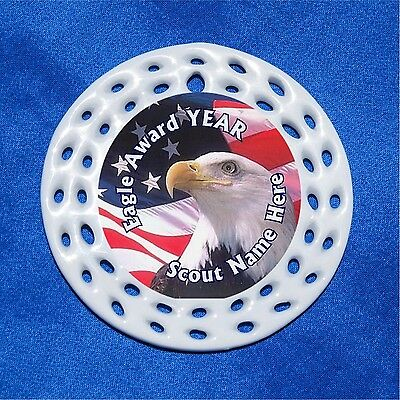 Eagle Award Flag CUSTOM Personalized Porcelain Gift 3 Formats Scout Boy Head