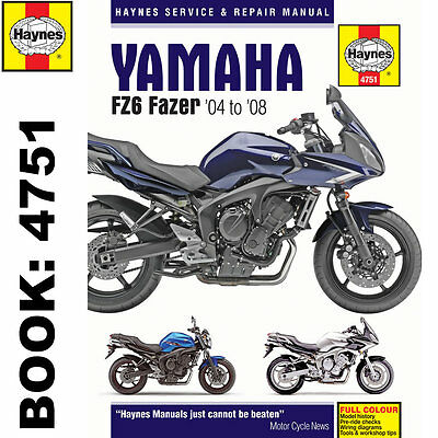 Yamaha FZ6 inc Fazer 2004-2008 Haynes Workshop Manual