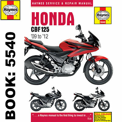 Honda CBF125 2009-2014 Haynes Workshop Manual