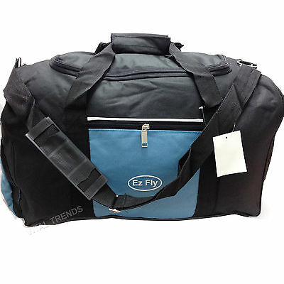 "21"" Holdall/Duffel Sports School Work Travel Fishing Camping Gym Bag Black/Blue"