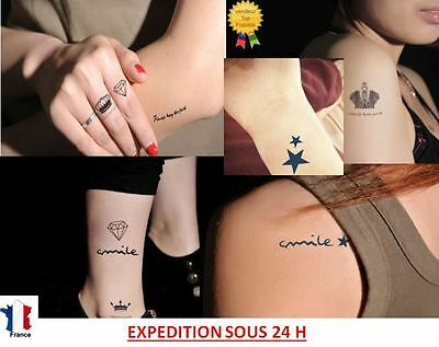 Tattoo Tatouage Temporaire Autocollant Sticker (Rihanna,Eva Longoria...)