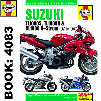 Suzuki TL1000S TL1000R DL1000 V-Storm 1997-2004 Haynes Workshop Manual