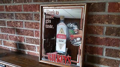 Gilbey's Dry Gin - Mirror - Vintage - Signage - Advertising - Collectible