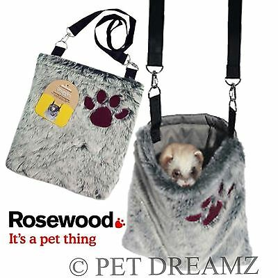 Rosewood Snuggles Snooze & Carry Bag Carrier Soft Plush Ferret Rat Small Animal