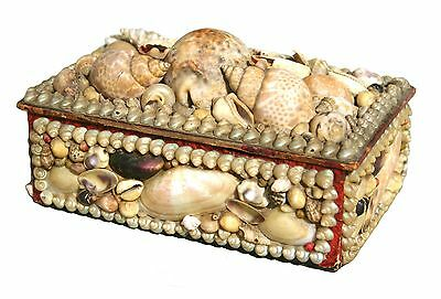 Antique Shell Work Box