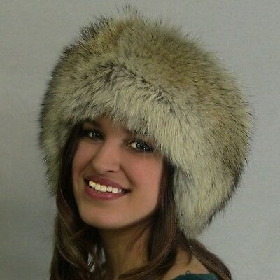 "AuSable Real Fur Coyote Headband ""Full Fur Head Bands""  One Size Fits Most"