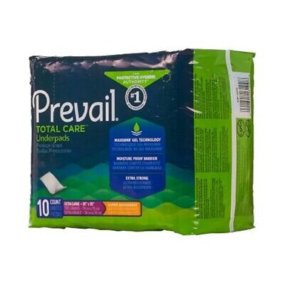 "50 30""x30"" Prevail UP-100 Heavy Absorbency Adult Disposable Underpads Chux bed"