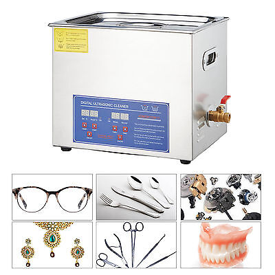 15L Industry Heated New Stainless Steel  Ultrasonic Cleaner Heater w/Timer
