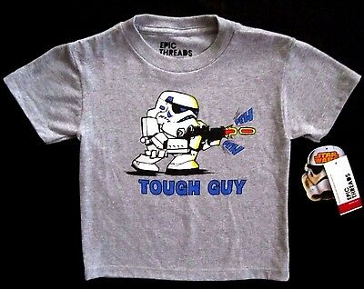 Epic Threads Toddler Little Boys Grey Heather Short Sleeve Star Wars T-Shirt