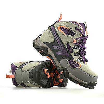 Boys Girls Childrens Hi Tec Leather Waterproof Ankle Hiking Boots Trainers Size