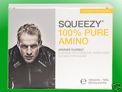 (35,85€/100g)   Squeezy 100% Pure Amino - 20 Beutel a 5g
