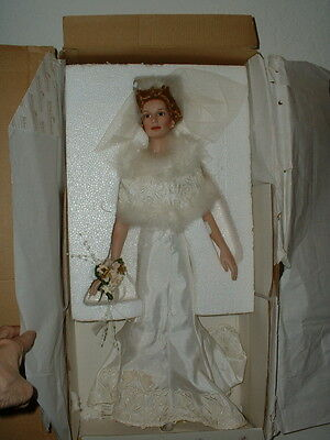 "Ashton Drake  Porcelain ""The Loving Pair"" Bride Doll w/COA"
