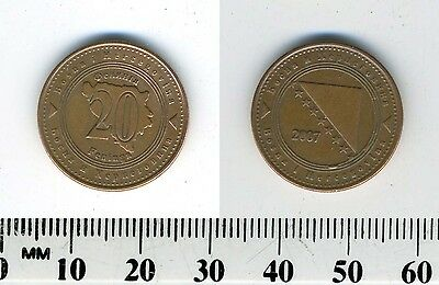 Bosnia-Herzegovina 2007 - 20 Feninga Copper Plated Steel Coin