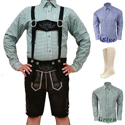 Oktoberfest Lederhosen German Bavarian Trachten Short Length outfit Package /Set