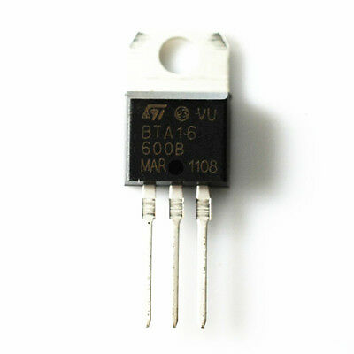 3pcs BTA16-600BRG Triac 600V 16A 50mA TO220AB