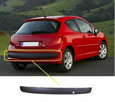 Peugeot 207 2006-2012 Rear Bumper Moulding Smooth  Black Insurance Approved New