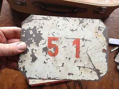VINTAGE Antique ENAMEL SIGN PLATE TIN STREET HOME DOOR NUMBER 12