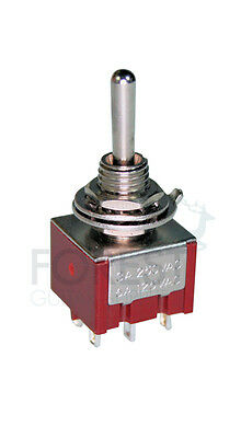 DPDT Mini toggle switch 3 position ON-ON-ON for guitar coil tapping and phase