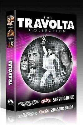JOHN TRAVOLTA TRIPLE PACK DVD GREASE STAYING ALIVE SATURDAY NIGHT FEVER New UK