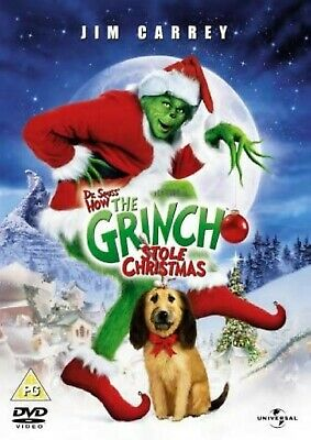 HOW THE GRINCH STOLE THE CHRISTMAS DVD Jim Carrey Brand New Sealed UK Release