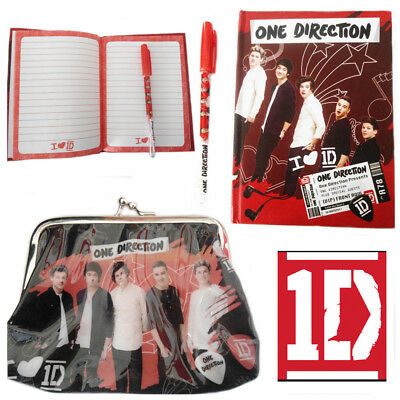 One Direction 1D Diary With Pen Press Clutch Purse Girl Boy Stationery Gift