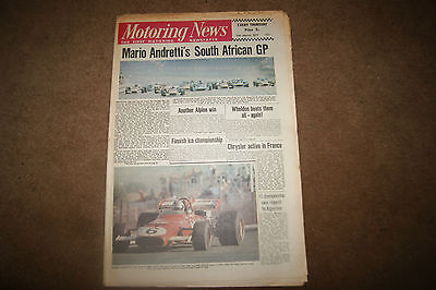 Motoring News 11 March 1971 South African GP Surfers Paradise Rothmans 100
