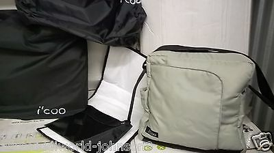NEW Hauck I'COO Official baby nappy changing bag D-Pac diaper+Mat in icoo Green