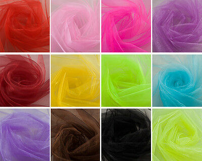 "10 Yards 60"" Wide Organza Fabric High Quality Sheer Draping Party Wedding SALE"