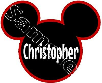 Personalized Disney Mickey Mouse Name Plate Cruise Stateroom Door Magnet B3G1F