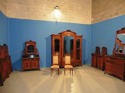 Antique Art Nouveau Italian Antique Bedroom Set Beds - 15It021E