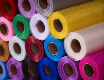 100 Yards Organza Fabric 60 inch Wide Sheer Draping Party Wedding 25 COLORS SALE