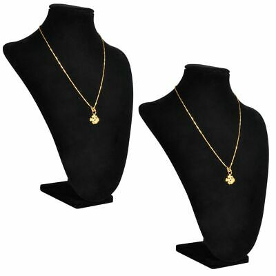 New Flannel Velvet Necklace Bust Chain Pendant Display Jewelry Stand Holder 2pcs