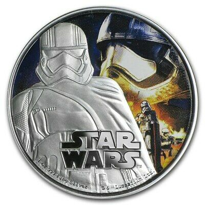 Niue -2016- Silver $2 Proof Coin- 1 OZ Star Wars Captain Phasma!!!