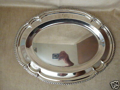 FISHER Oval scalloped 925 STERLING SILVER SERVING PLATTER TRAY 59 TROY OZ