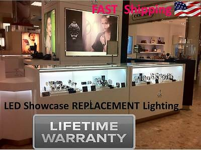 6 ft. Showcase Display Show Jewelry Case LEd lighting kit - Lifetime WARRANTY
