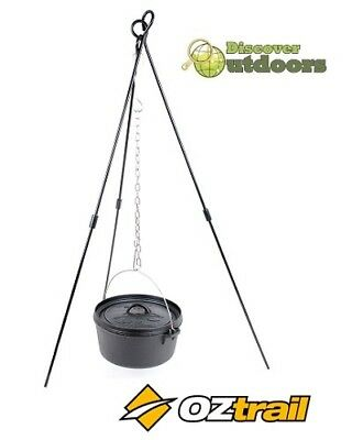 NEW Oztrail Camp Dutch OVEN Tripod for Camping Fire HIKING Cooking