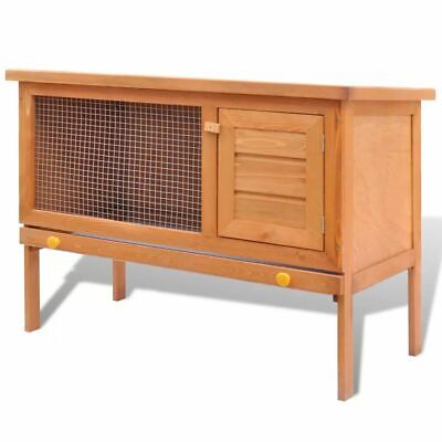 New Outdoor Rabbit Hutch Small Animal House Pet Cage Carrier Coop 1 Layer Wood
