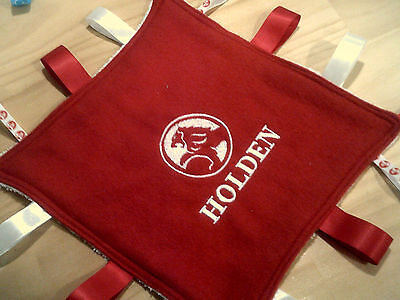 embroidered holden or ford  boy or girl  taggie blankets